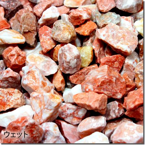 砂利 マーブルチップ砕石タイプ(ピンク)