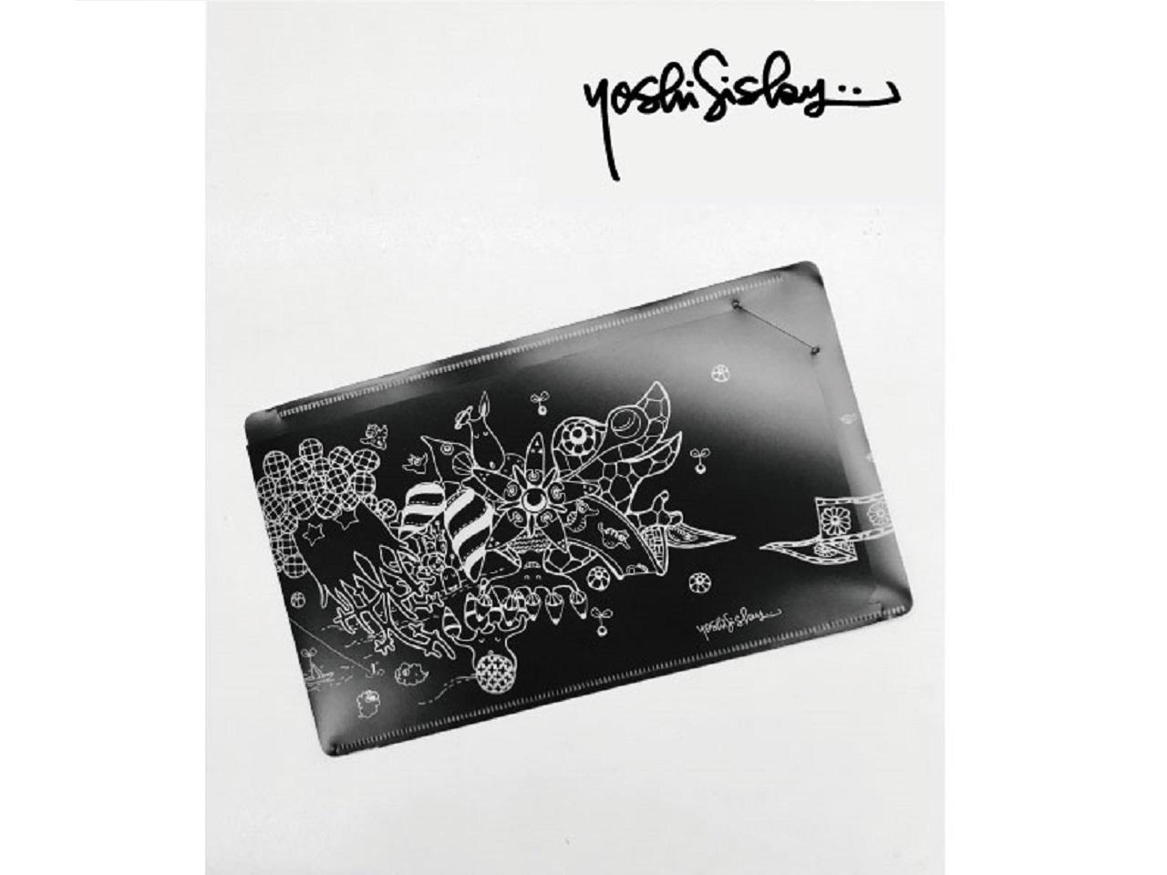 抗菌PP製マスクケース Yoshi Sislay (ヨシシスレー) デザイン ブラック