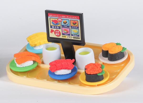 ブリスターパック消しゴム 回転寿司セット
