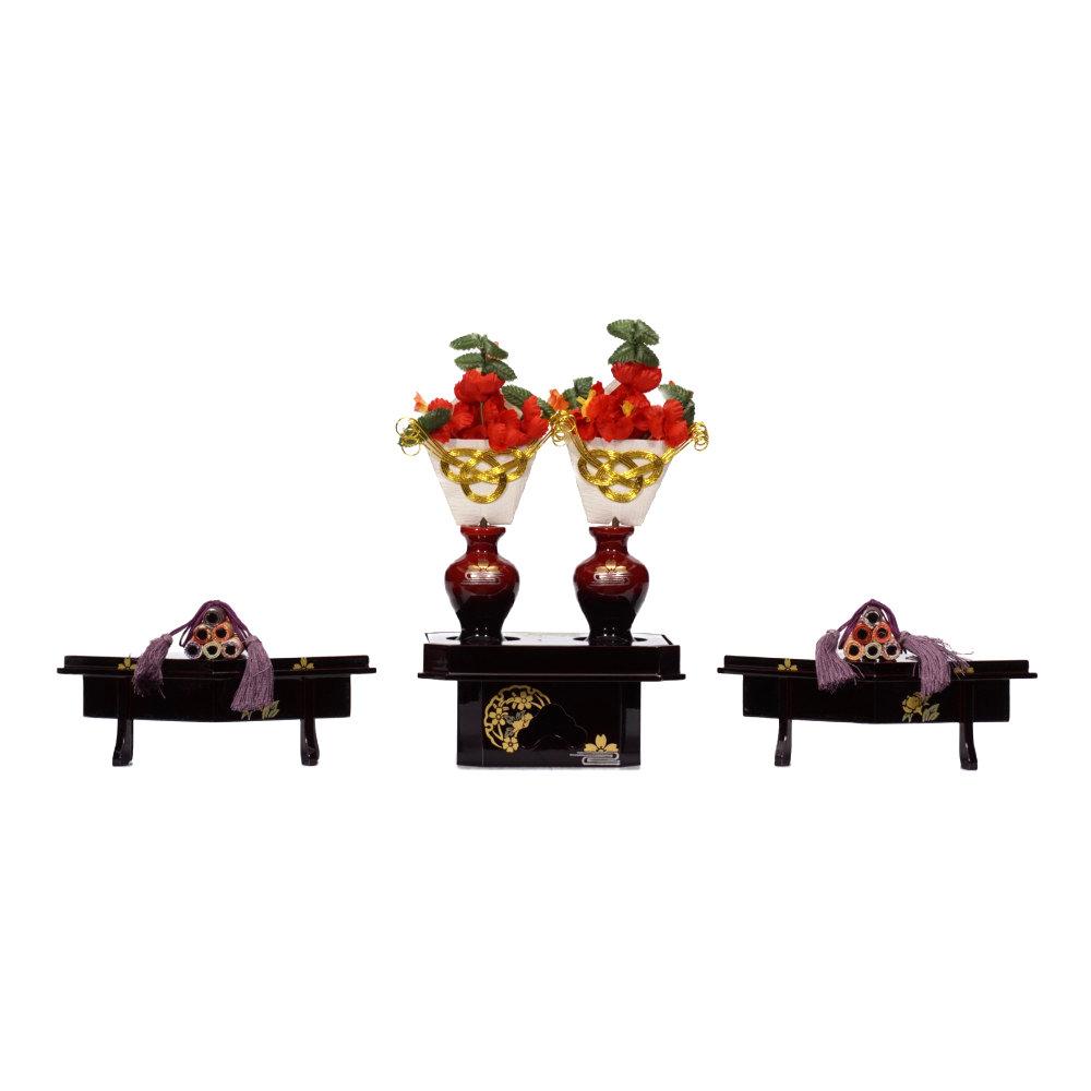 【雛人形】京七番 小倉 鶴花菱に丸文様 親王飾り〈小出松寿作〉