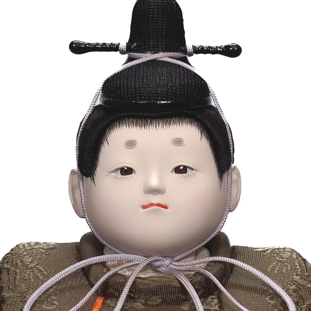 【木目込人形】「小雪」(利休) 親王飾り〈幸一光作〉
