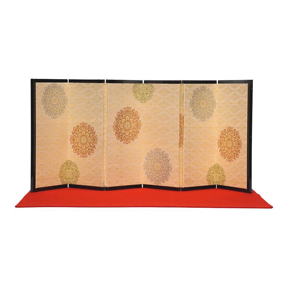 【雛人形】京十番 京極手刺繍 雲水四君子文様 親王飾り〈小出松寿作〉