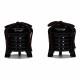【雛人形】三寸 有職(黒・赤) 親王揃い収納飾り〈磊楽作〉