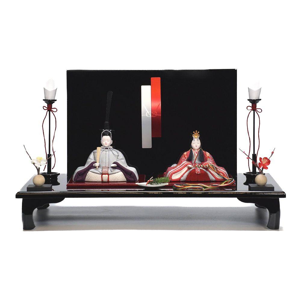 【木目込人形】桃山雛 水引 親王飾り〈木村一秀作〉