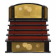【雛人形】京十一番 金襴(紫・朱) 十五人揃い五段飾り〈平安豊久作〉