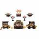 【雛人形】京十番 金襴(紺・赤) 五人揃い三段収納飾り〈雅泉作〉