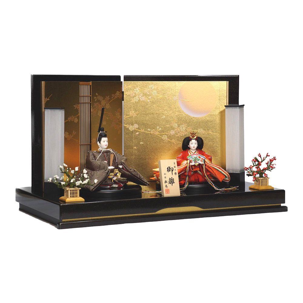 【雛人形】京十一番 貴船 麹塵 親王飾り〈小出松寿作〉