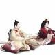 【雛人形】京十番 京友禅(鶴) 親王飾り〈千匠作〉