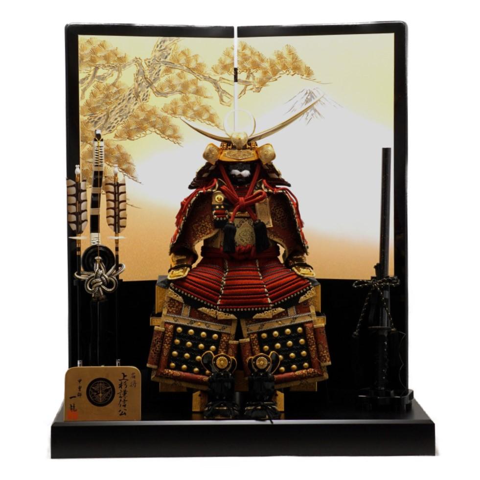 【五月人形】10号 胴丸上杉謙信 赤糸威 鎧飾り〈一龍作〉
