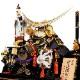 【五月人形】13号 金竜伊達 兜ガラスケース飾り〈一甲作〉