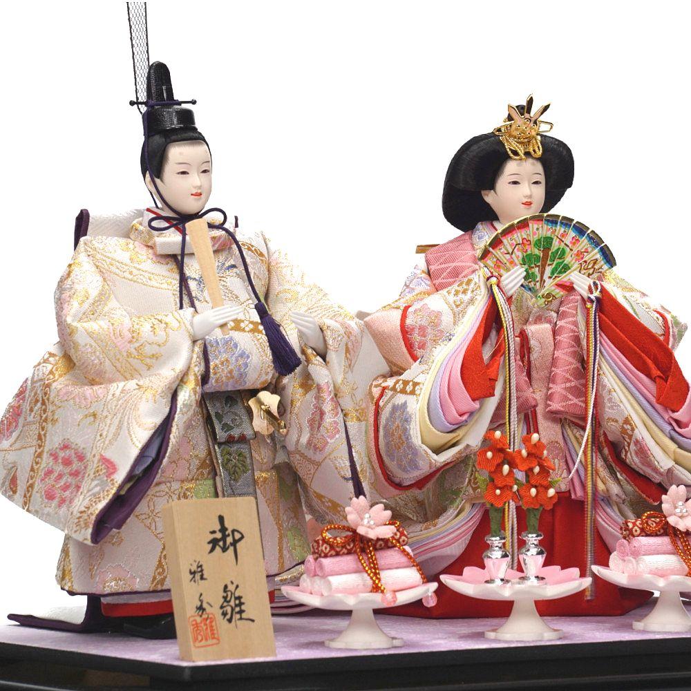 【雛人形】芥子 舞華 立雛 親王揃いガラスケース飾り〈雅秀作〉