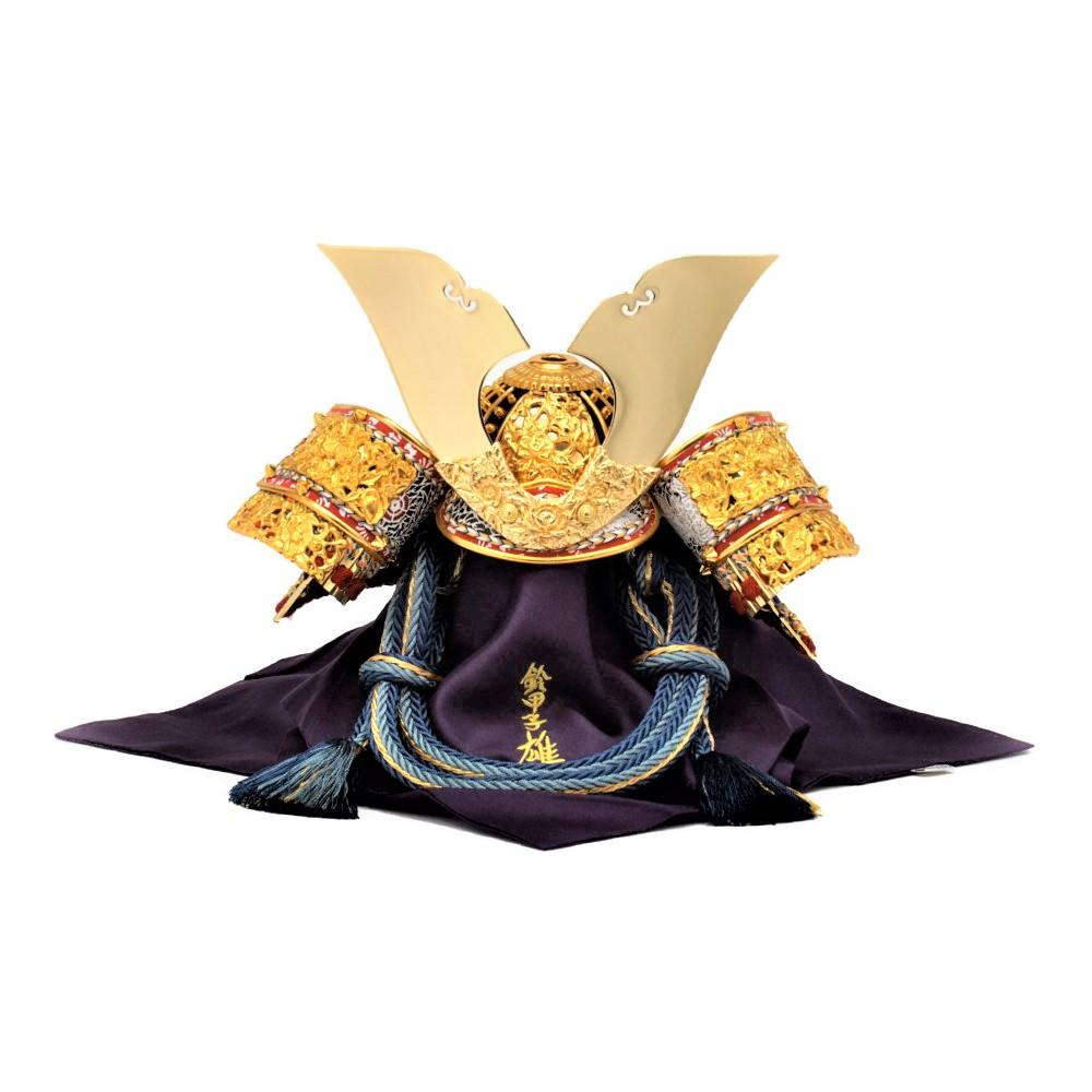 【五月人形】8号 光帝 紺裾濃威 兜飾り〈雄山作〉