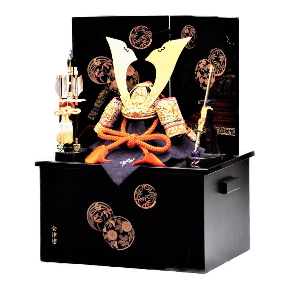 【五月人形】10号 竹雀 国宝模写 兜収納飾り〈雄山作〉