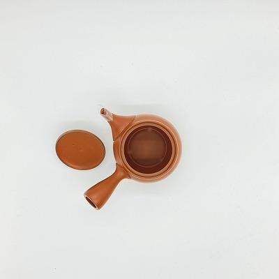 上級者用急須付きセット 【日本茶ナビゲーターTomoko様監修】 極上茶 50g + 常滑急須  朱色 (セラメッシュ茶こし)360ml  送料込み