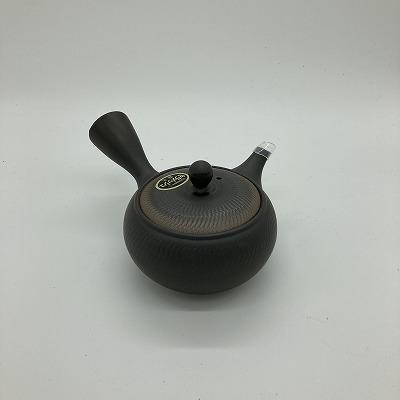 上級者用急須付きセット 【日本茶ナビゲーターTomoko様監修】 極上茶 50g + 常滑急須  黒吹ビリ (セラメッシュ茶こし)360ml  送料込み