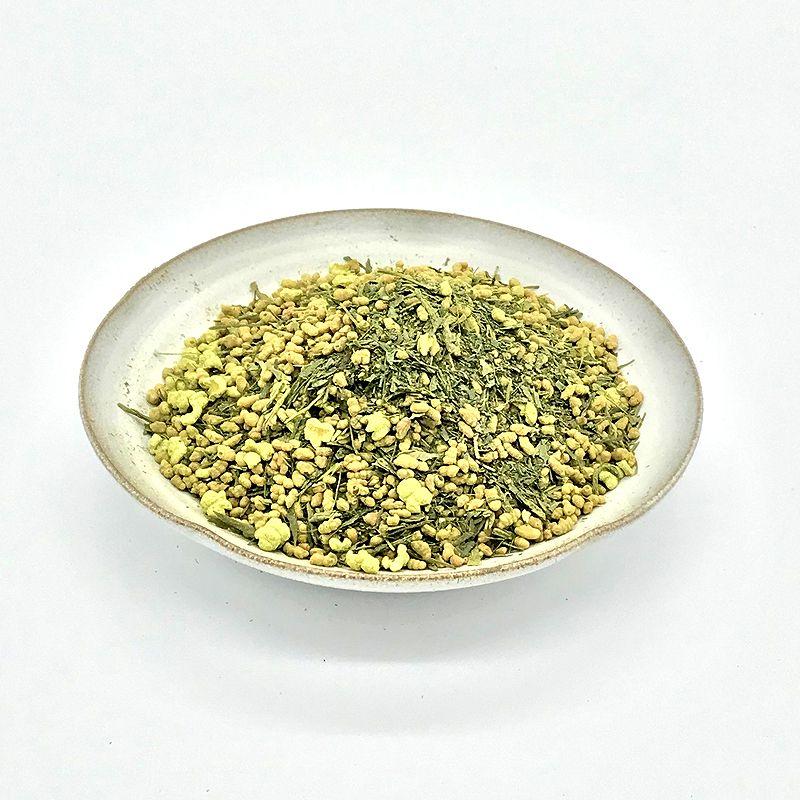 抹茶入り玄米茶 100g 【3本までゆうパケット(メール便)対応】 抹茶の甘みと国産玄米の香ばしい日本茶 カフェインレス お試しにも!