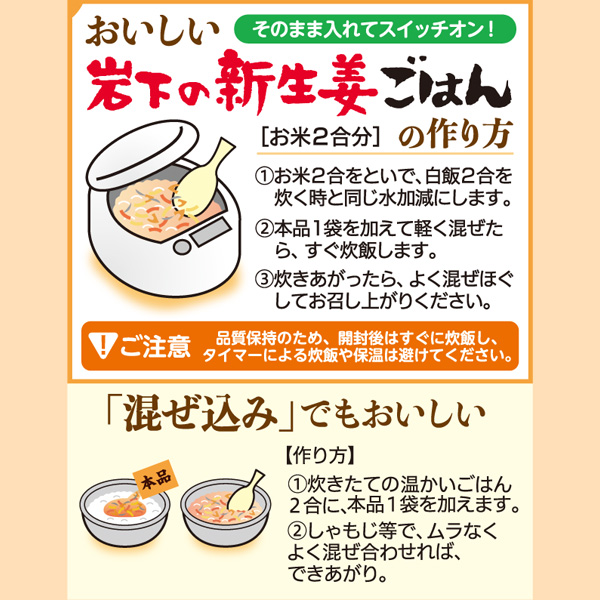 【10袋セット】岩下の新生姜ごはんの素