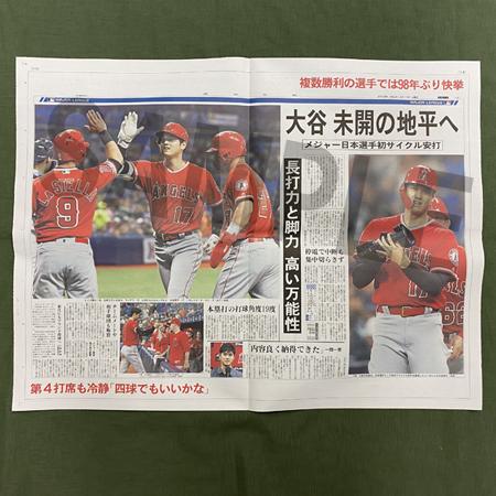 岩手日報特別版 大谷翔平2019