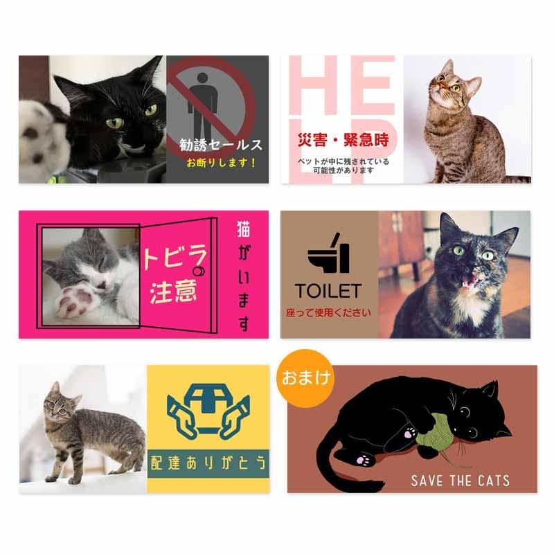 うちの猫の写真で作る!ステッカー 5枚セット+1枚(Bタイプ)