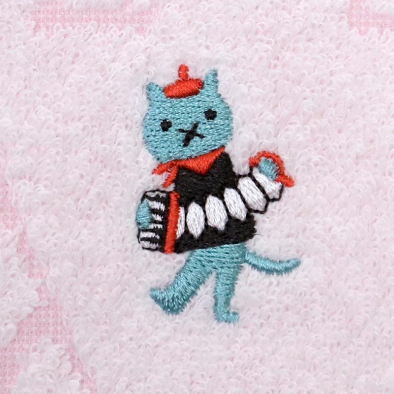 【キャットン】タオルハンカチ パリ猫 ジャガード織 Shinzi Katoh ※ハンカチよりどり3点で10%OFF