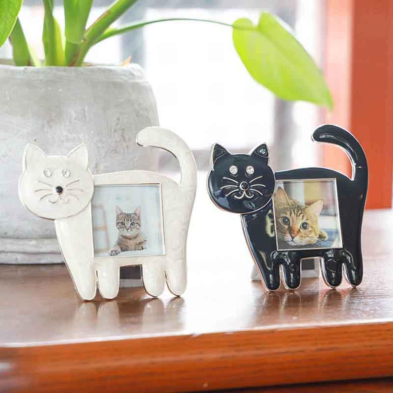猫好きの方のプレゼントにおすすめ!ミニフォトフレーム(白猫)