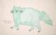 ショートエプロン  猫 (グリーン) セレクトネコリウム
