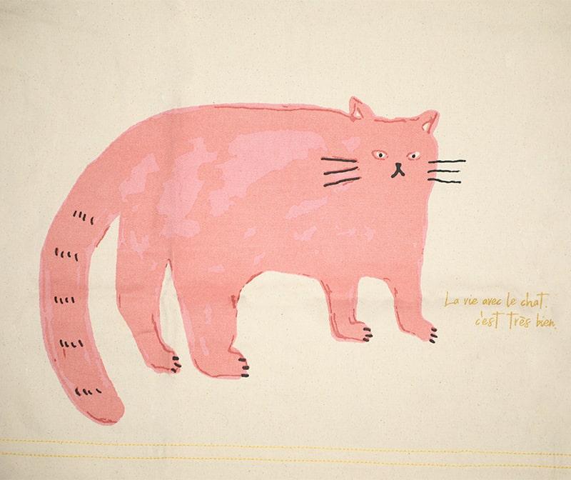 ショートエプロン  猫 (ピンク) セレクトネコリウム
