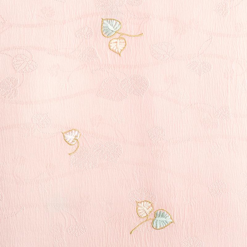 帯揚げ 双葉葵刺繍