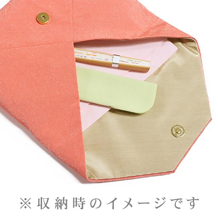 桜のちりめん刺繍数寄屋袋
