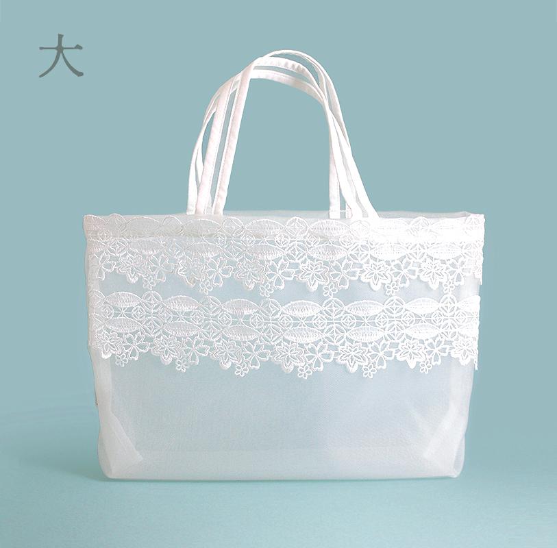 近沢レース×井澤屋 メッシュトートバッグ「ほの花」 大・小
