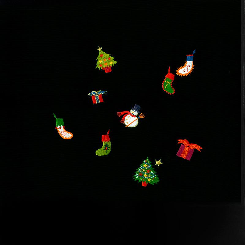 X'masの新塩瀬帯「クリスマス・チャーム」 黒地
