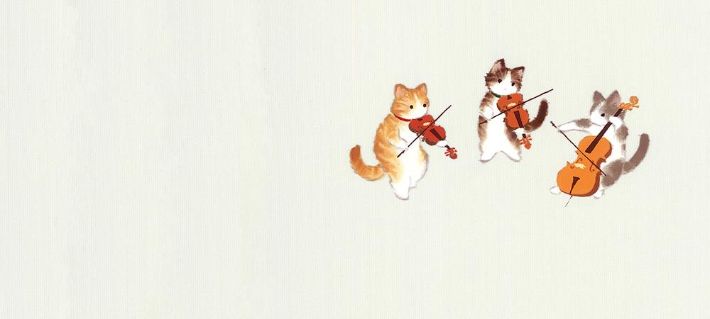新塩瀬帯「ねこのオーケストラ」(全2色)