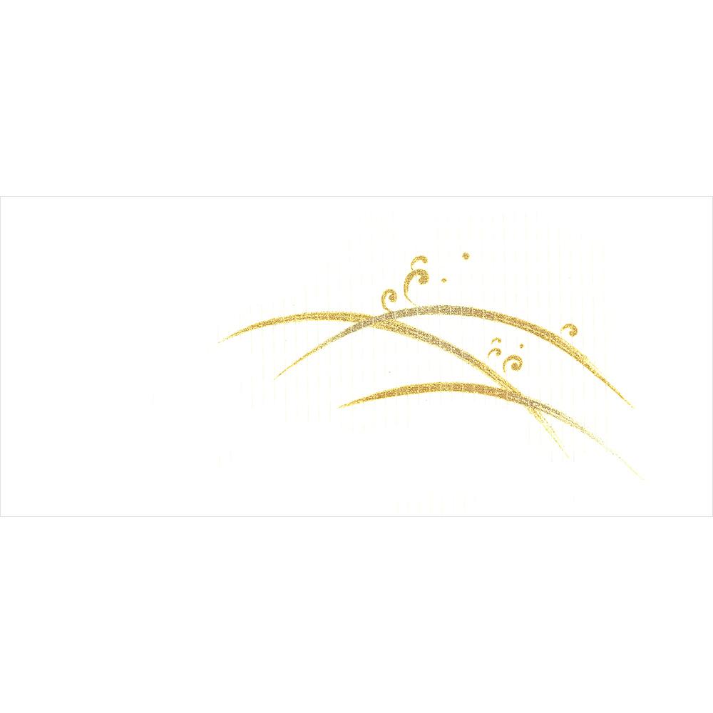 新塩瀬帯 夏の柄「露芝に波頭」 絽・白地