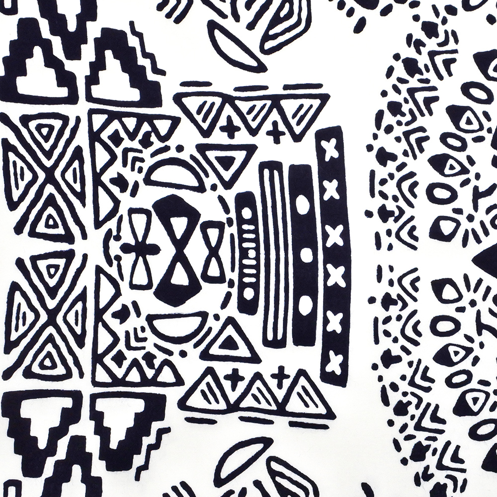 本染め浴衣地「幾何学」