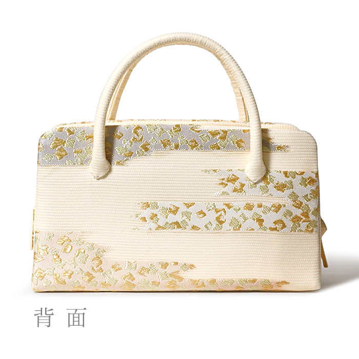 夏の葵バッグ「絽 切金かすみ」(小)