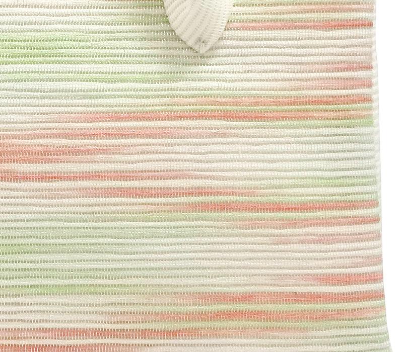 夏の葵バッグ「横段菱柄 朱×緑」(小)