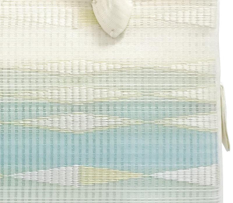 夏の葵バッグ「横段菱柄 水色」(小)