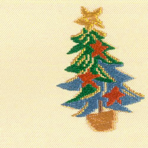 X'masの絹の帯「聖夜」 クリーム