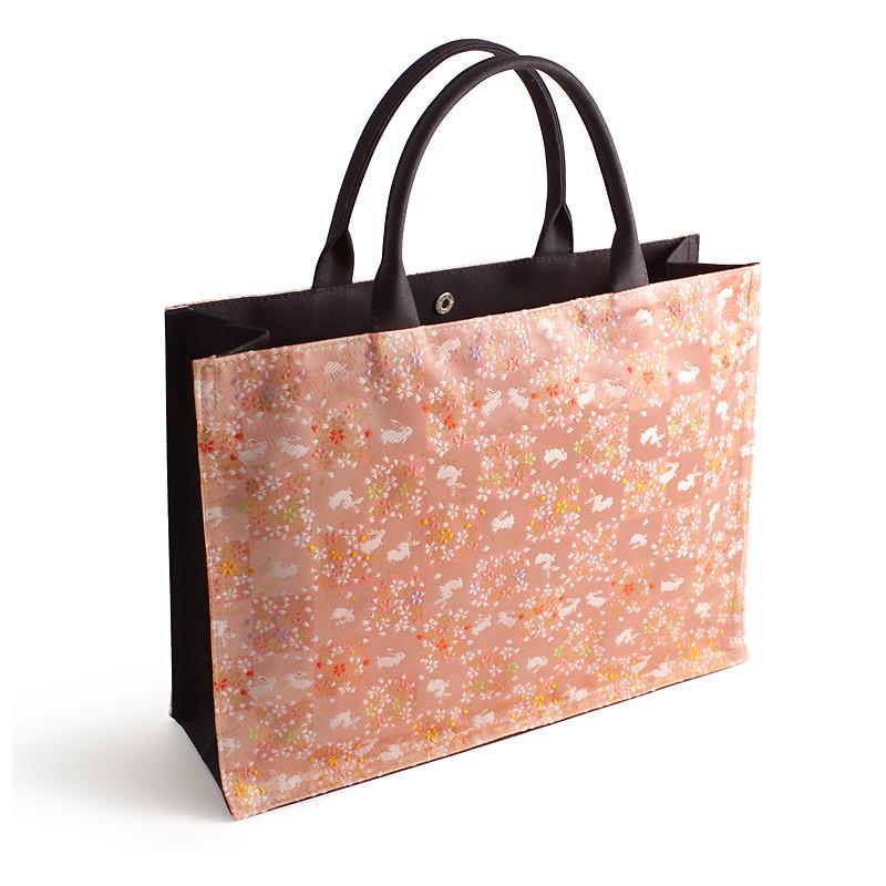金襴トートバッグ「うさぎ市松」(全2色)