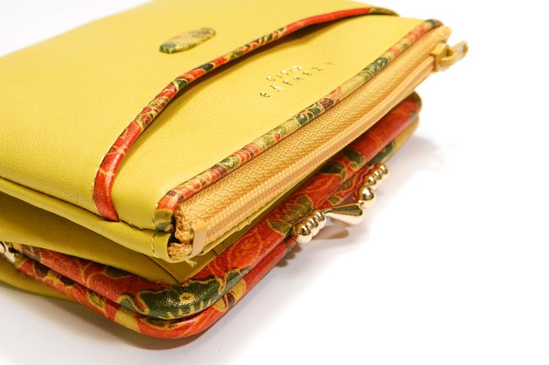 本革がま口二つ折財布「初音」