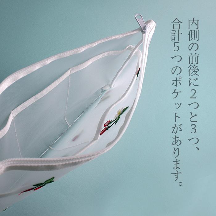 近沢レース  メッシュポーチ「いちご」ファスナーM