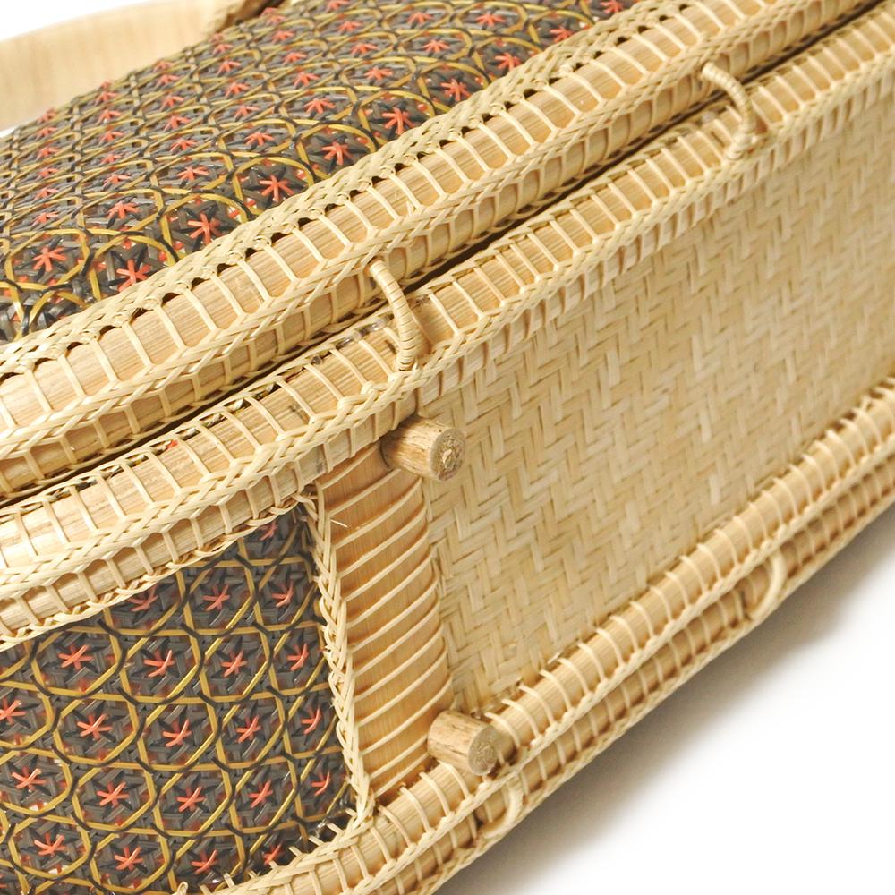 タイ製 竹細工 ミニハンドバッグ ビーンズ ブラウン