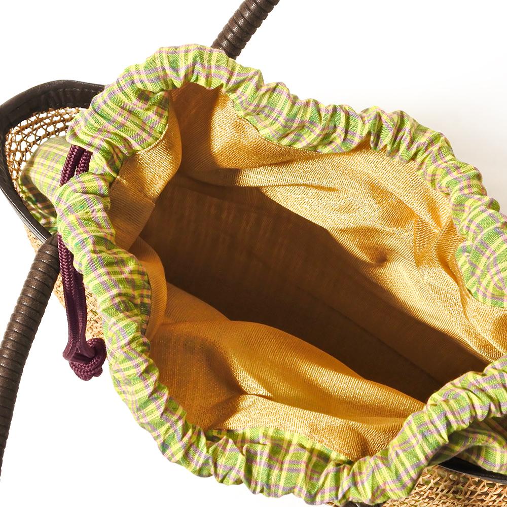 タイ製 ヤシ細工バスケット