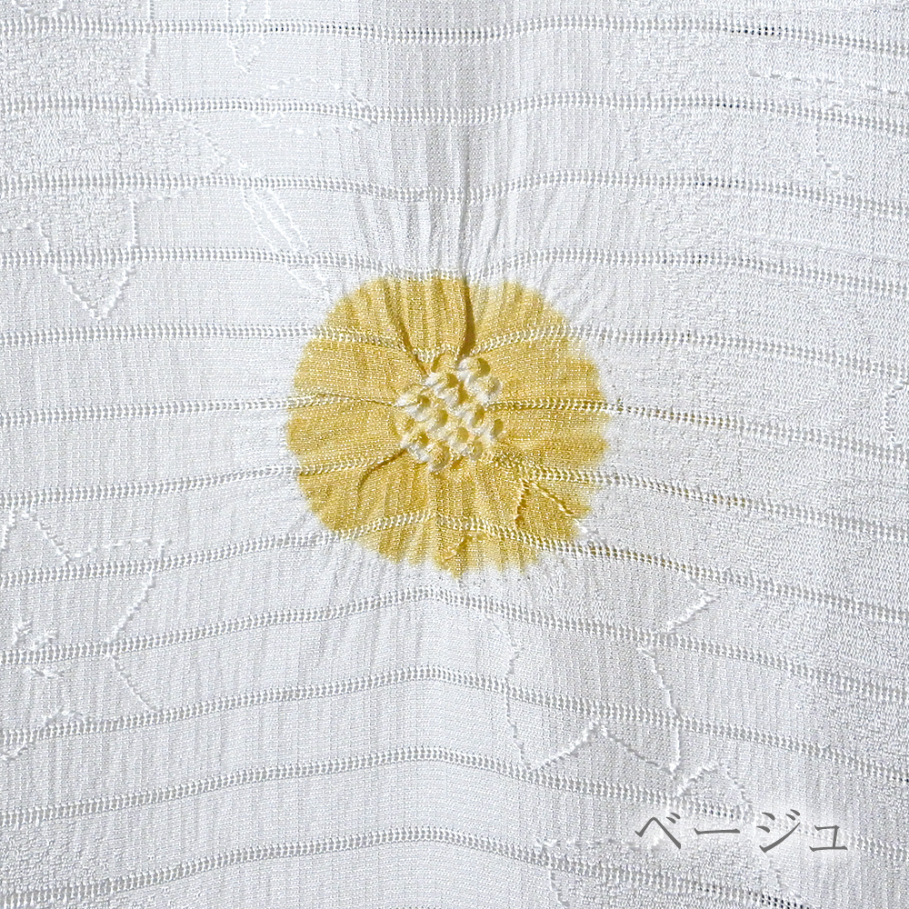 ●夏の帯揚げ 紋意匠絽 輪出丸絞り 白地