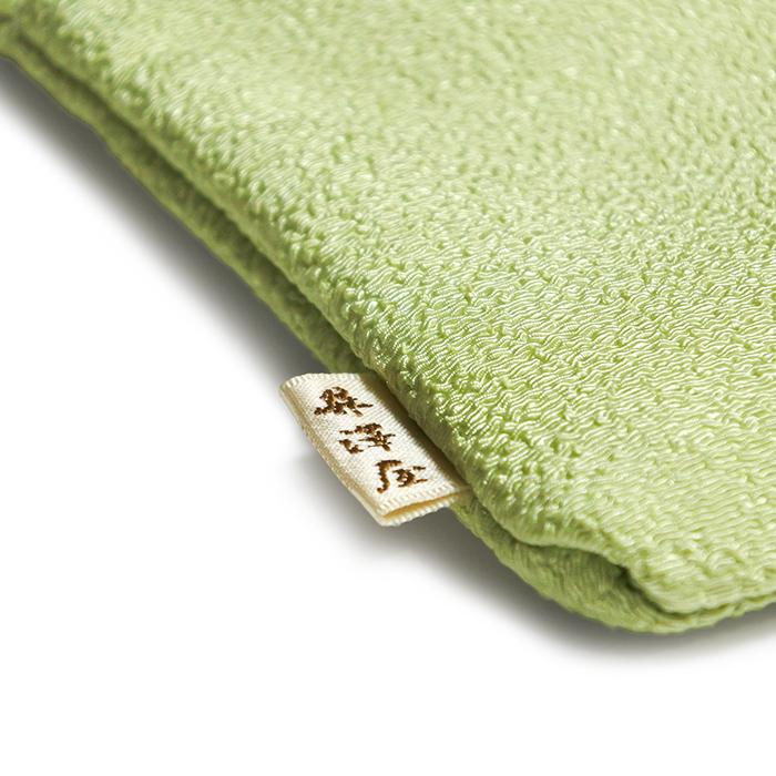 ちりめん刺繍二段ファスナーポーチ「結い葵」