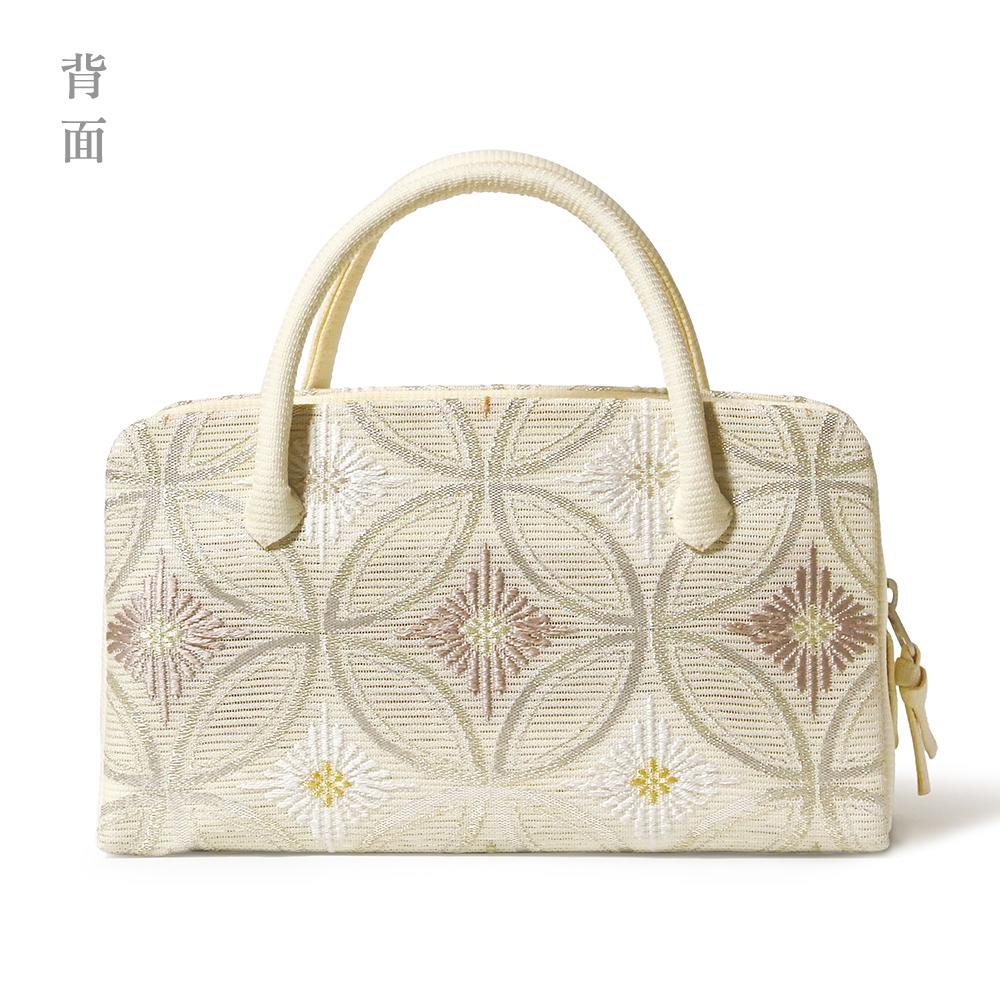夏の葵バッグ「七宝に菱菊」 A柄 (小)