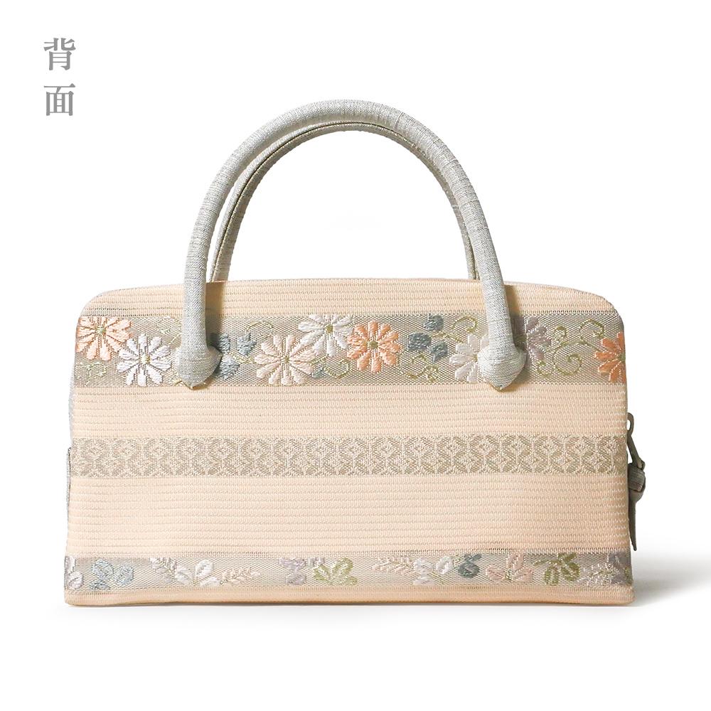 夏の葵バッグ「横段小花」(小)