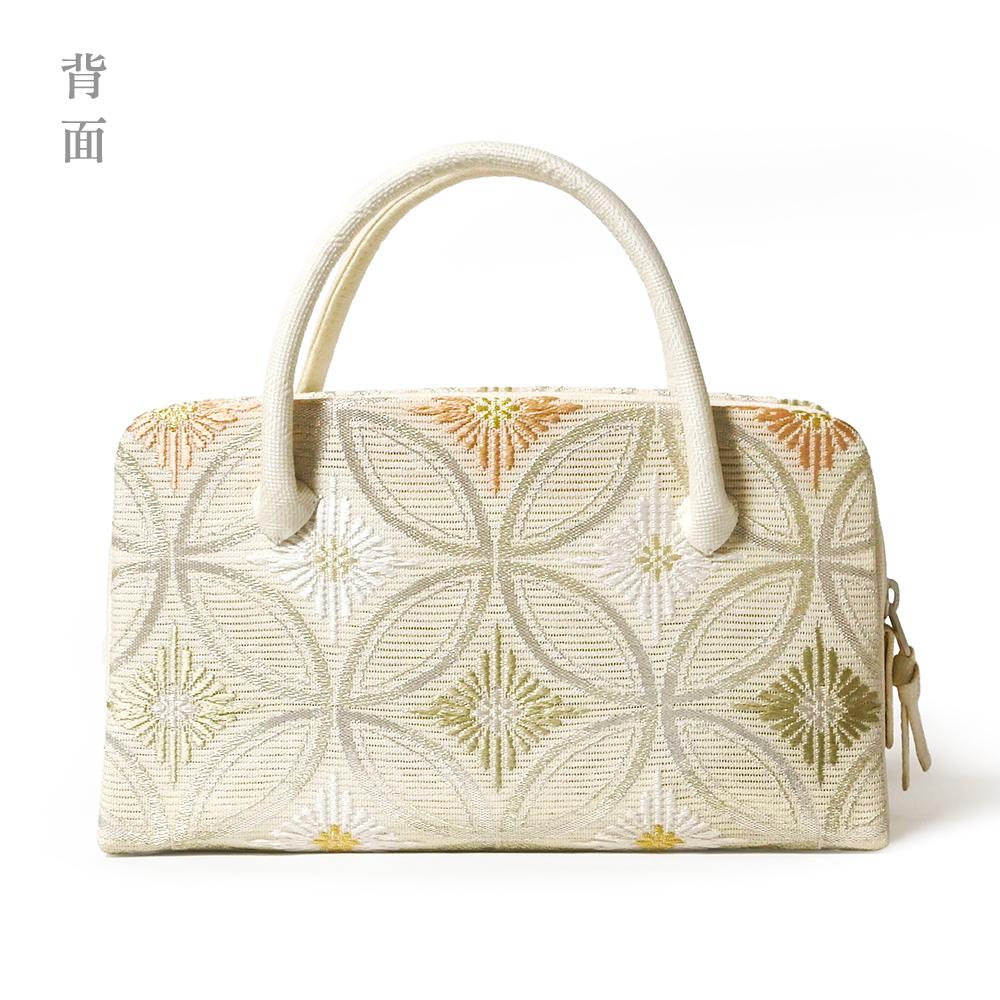 夏の葵バッグ「七宝に菱菊」 B柄  (小)