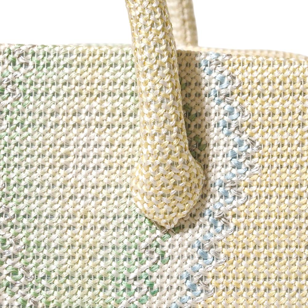 夏の葵バッグ「正倉院平組 献上二色流し」(小)