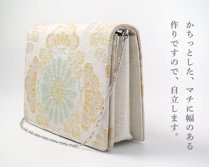 パーティーバッグ 2wayクラッチ「ねん金綴菊市松文」小